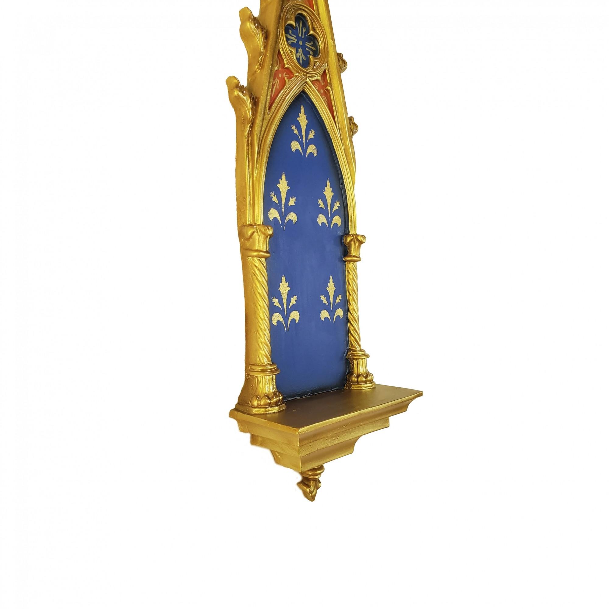 Peanha Oratório Gótico 45CM Azul