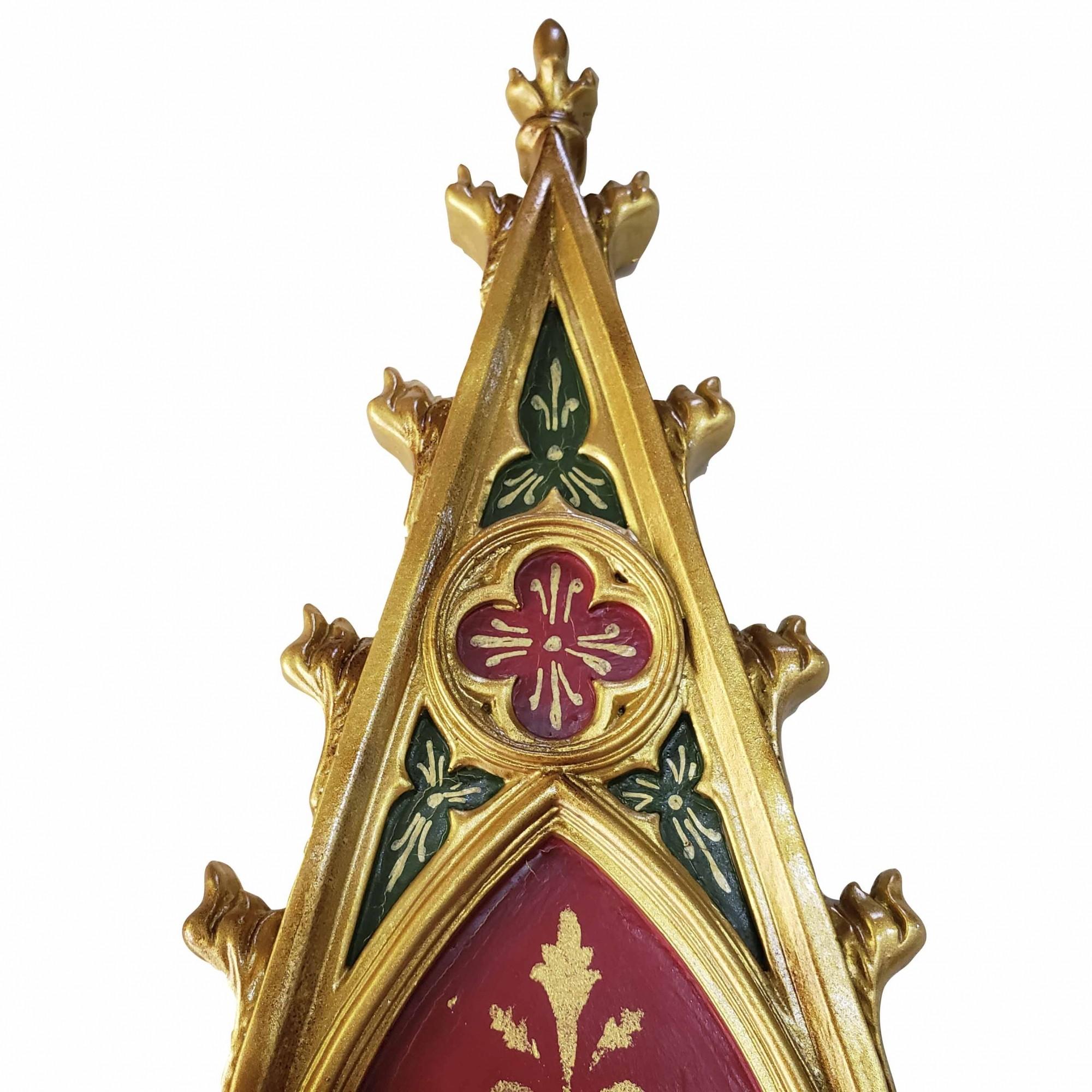 Peanha Oratório Gótico 45CM Vermelho