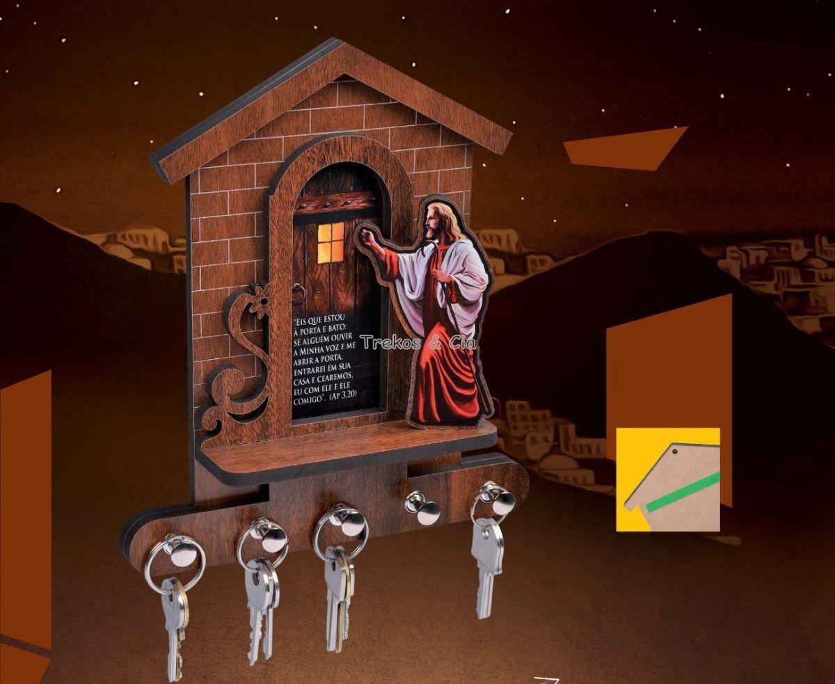 Porta Chaves Jesus Batendo na Porta