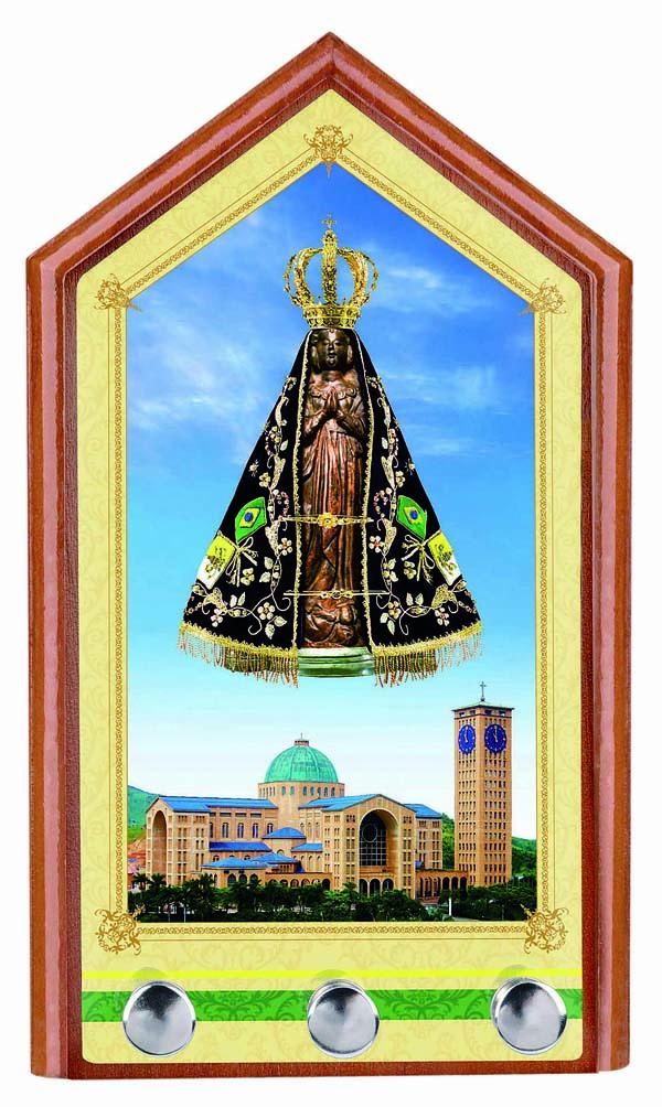 Porta-Chaves Nossa Senhora Aparecida para Parede