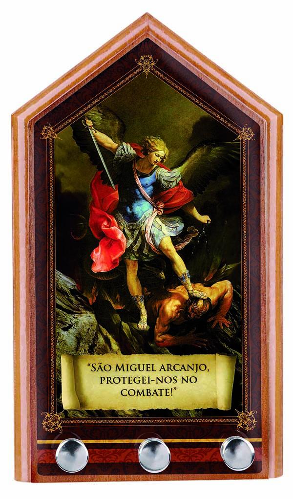 Porta-Chaves São Miguel Arcanjo para parede