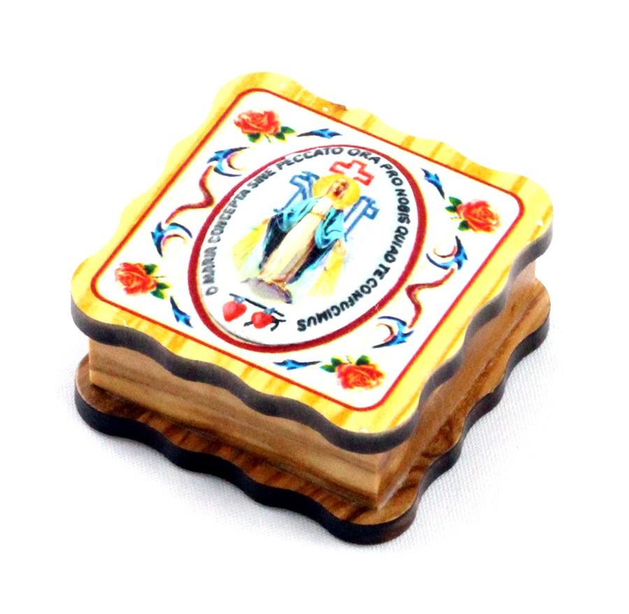Porta-jóias em madeira Nossa Senhora das Graças
