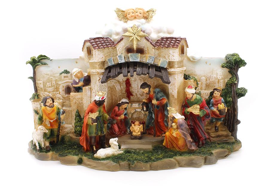 Presépio Sagrada Família com Luz e Música