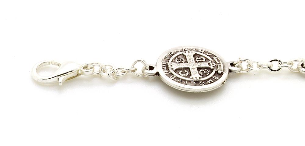 Pulseira Metal Medalha de São Bento