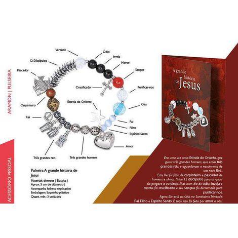 Pulseira História de Jesus C/Folheto