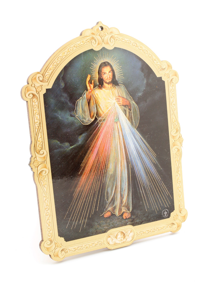 Quadrinho Húngaro - Jesus Misericordioso - 14cm