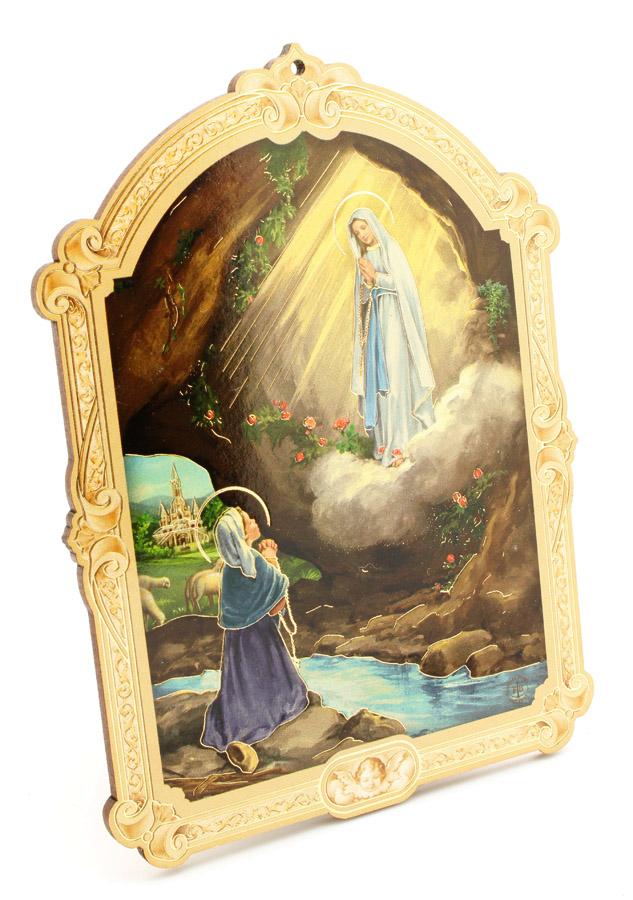 Quadrinho Húngaro - Nossa Senhora de Lourdes - 14cm