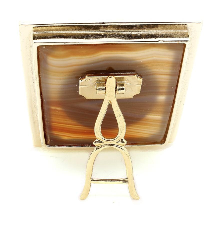 Quadro de mesa em pedra Ágata - Sagrado Coração de Jesus