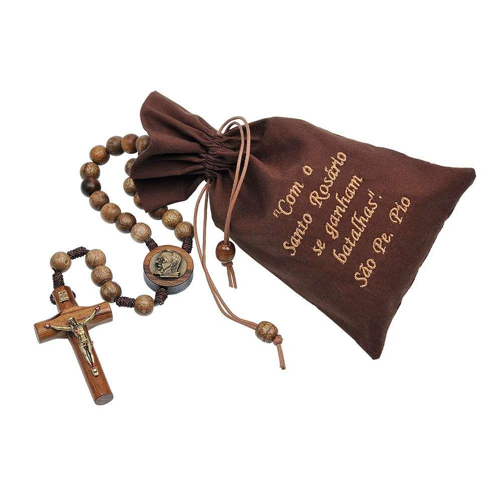 Terço Cordão com São Padre Pio 10mm