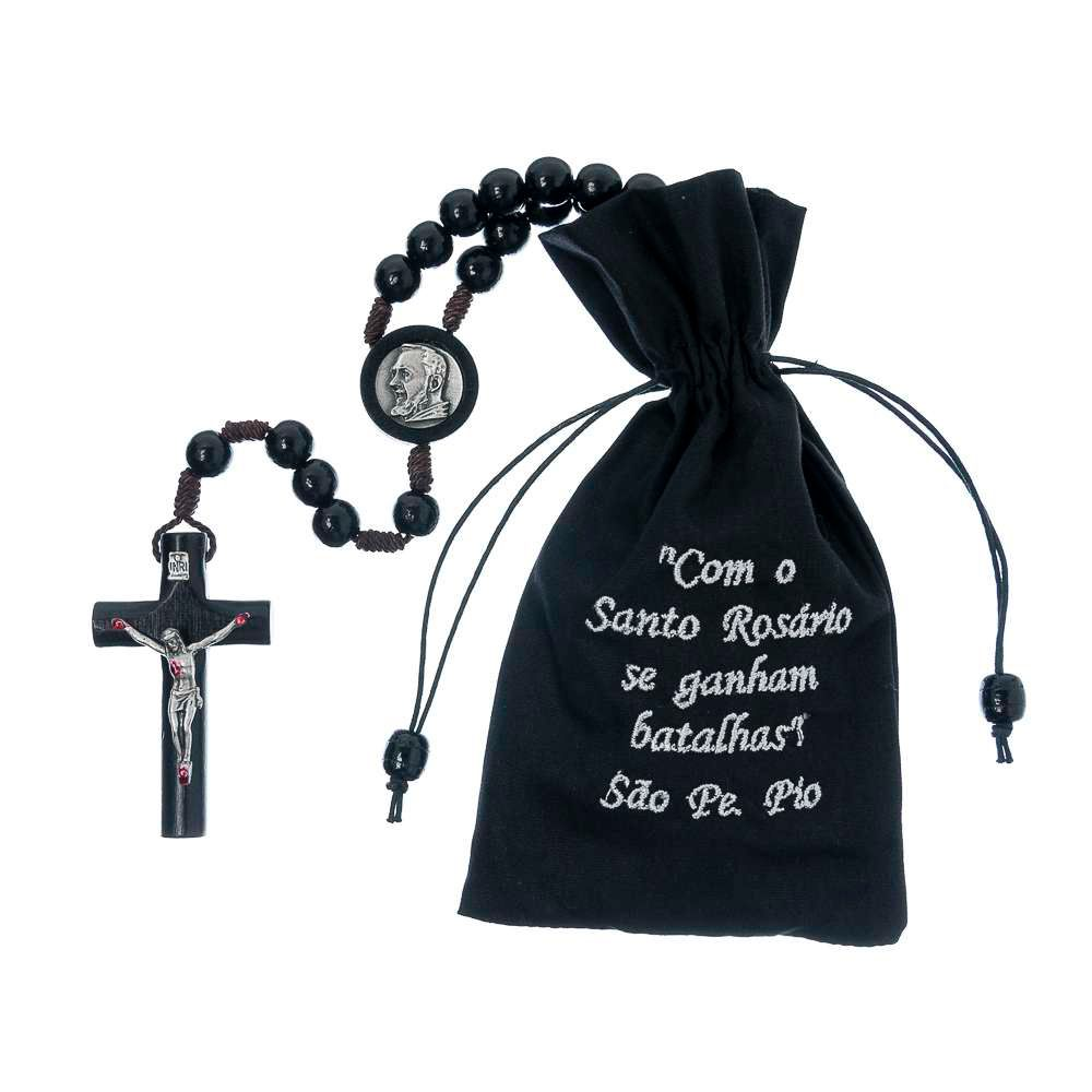 Terço Cordão São Padre Pio 10mm