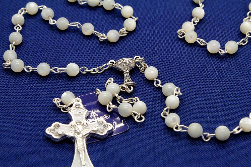 Terço de Madre Pérola - 1° Eucaristia - 5mm