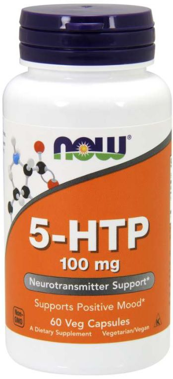 5-HTP 100 mg - 60 capsulas NOW Foods   - Nature Net