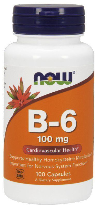 B-6 100mg (100 capsulas) Now  - Nature Net