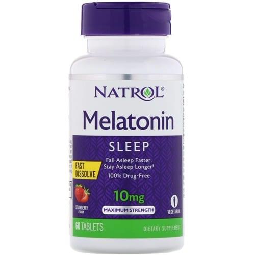 Boleto  5% OFF : Natrol : Melatonina : Morango : 10mg : 60 tbs  - Nature Net