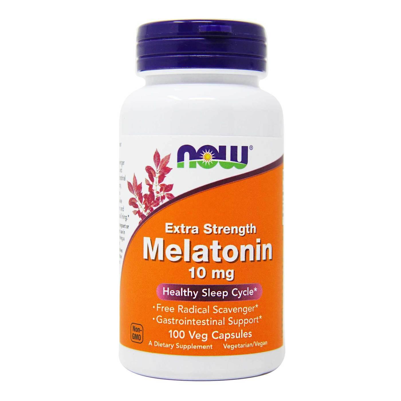 Melatonin 10mg 100 capsulas Now  - Nature Net