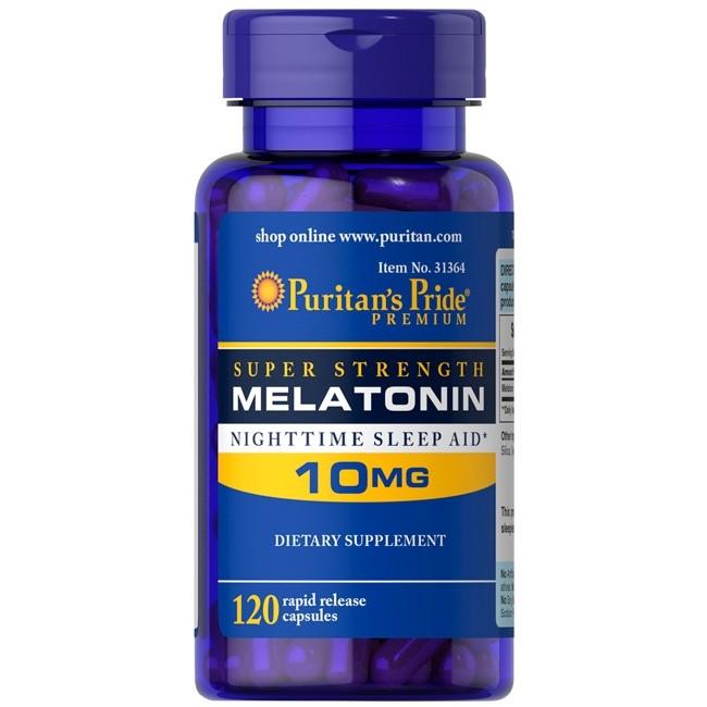 Melatonin 10mg 120 cápsulas Puritans Pride  - Nature Net