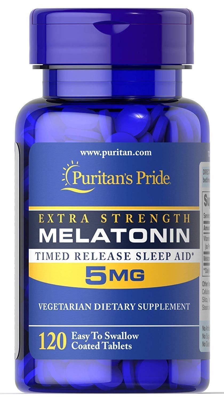Melatonin 5mg 120 cápsulas Puritans Pride  - Nature Net