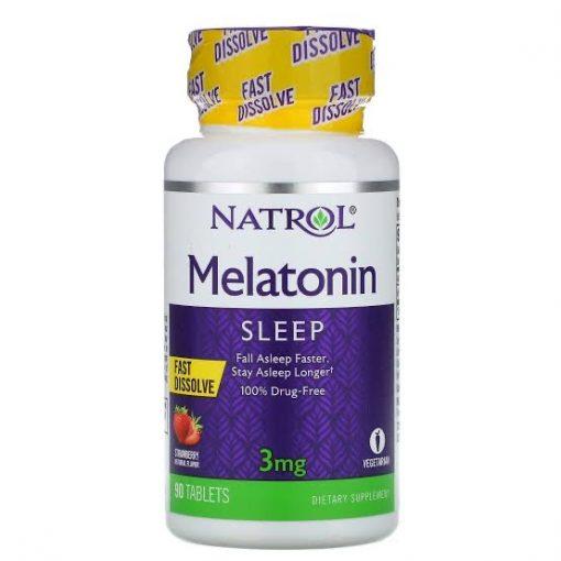 Melatonina 3mg  Natrol 90 cápsulas   - Nature Net