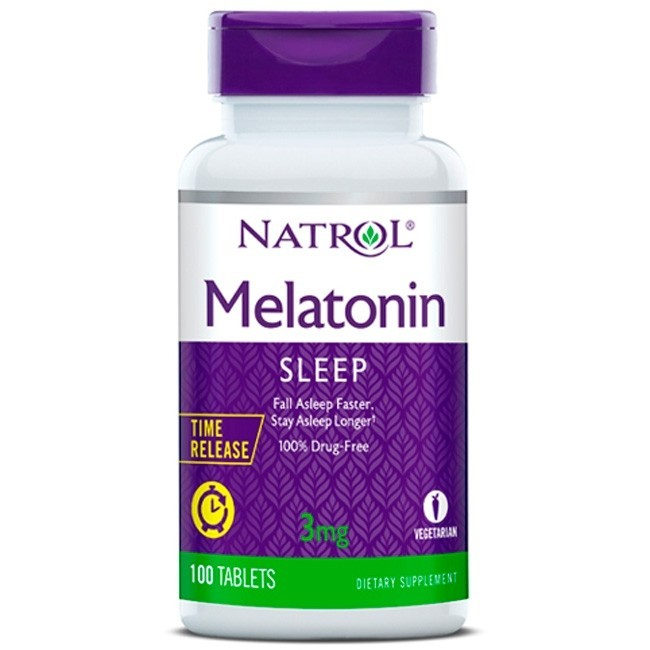 Melatonina 3mg natrol 100 cápsulas  - Nature Net