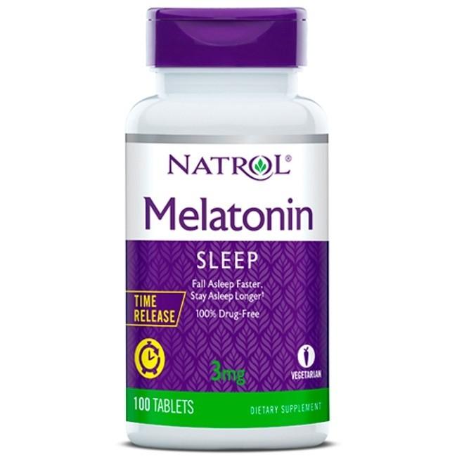 Melatonina 3mg Time Release (100 tabletes) - Natrol  - Nature Net