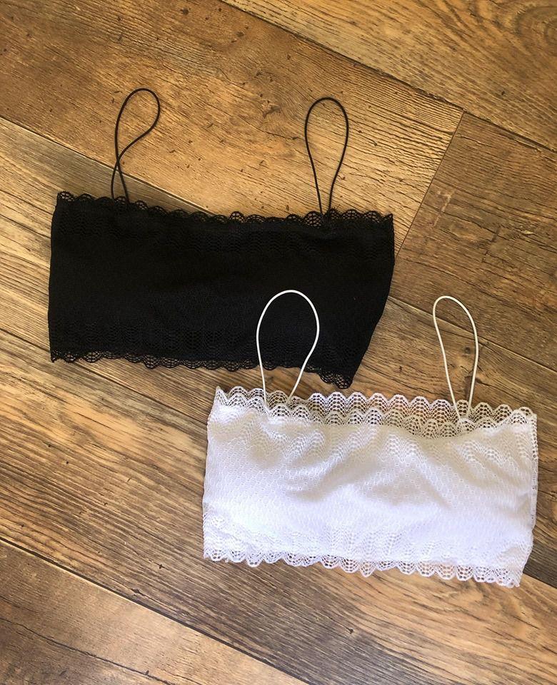 Sutia Renda Faixa | Preto e Branco