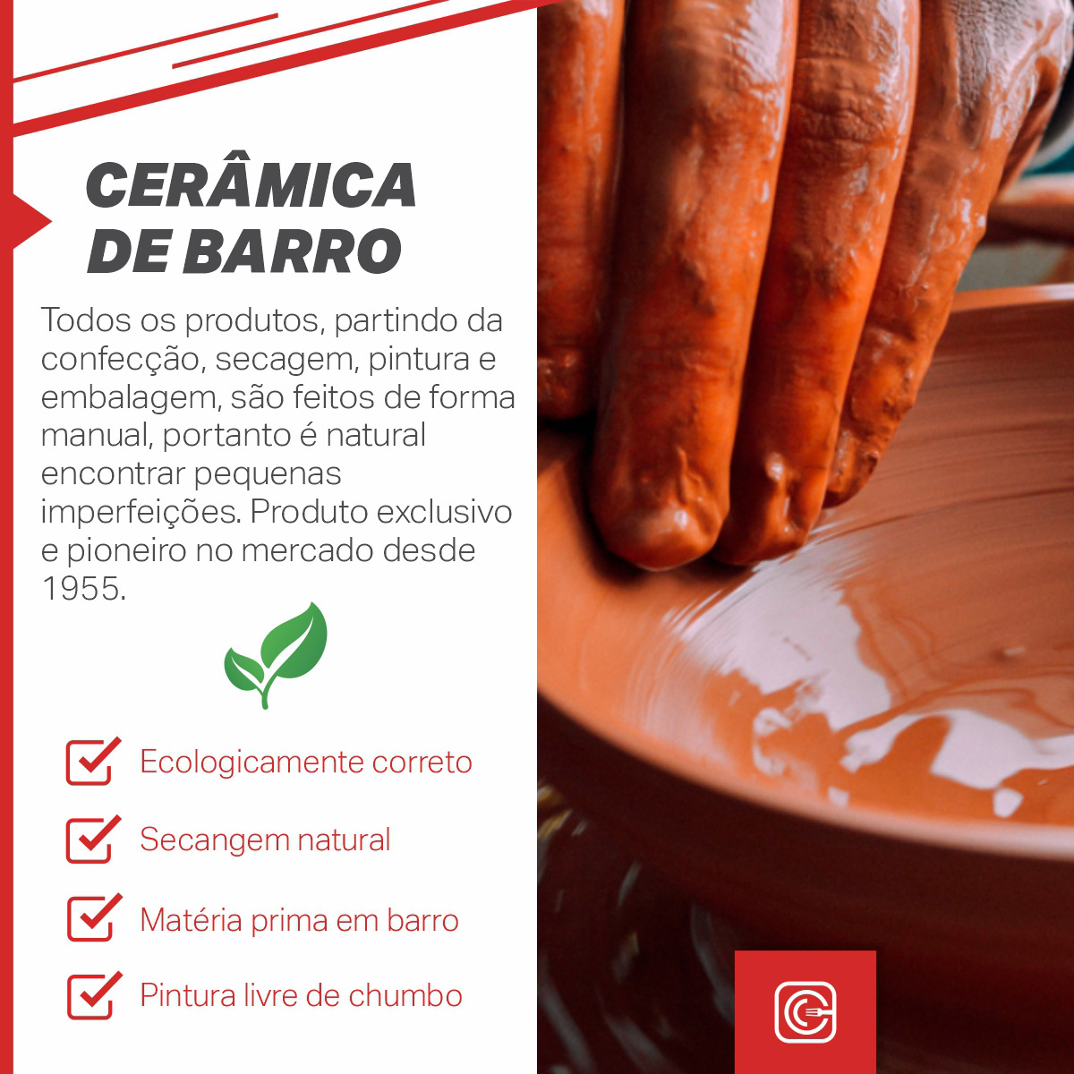 Conjunto para fondue de Cerâmica - nº1 - 5pçs
