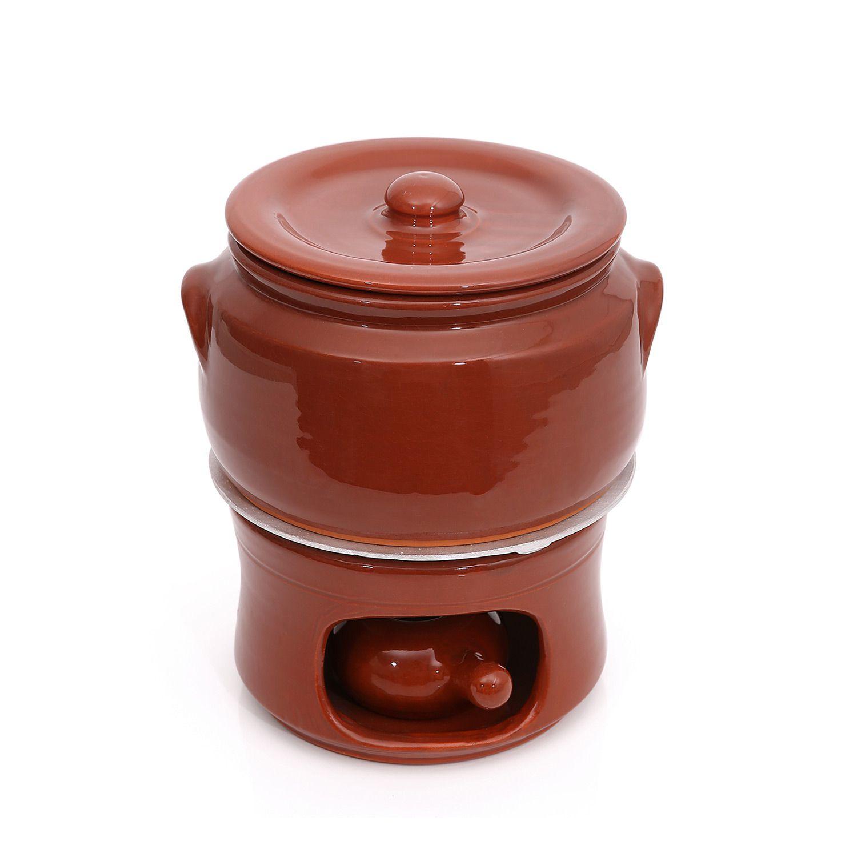 Kit Caçarola em cerâmica c/ tampa nº4+Dif+Fog nº3