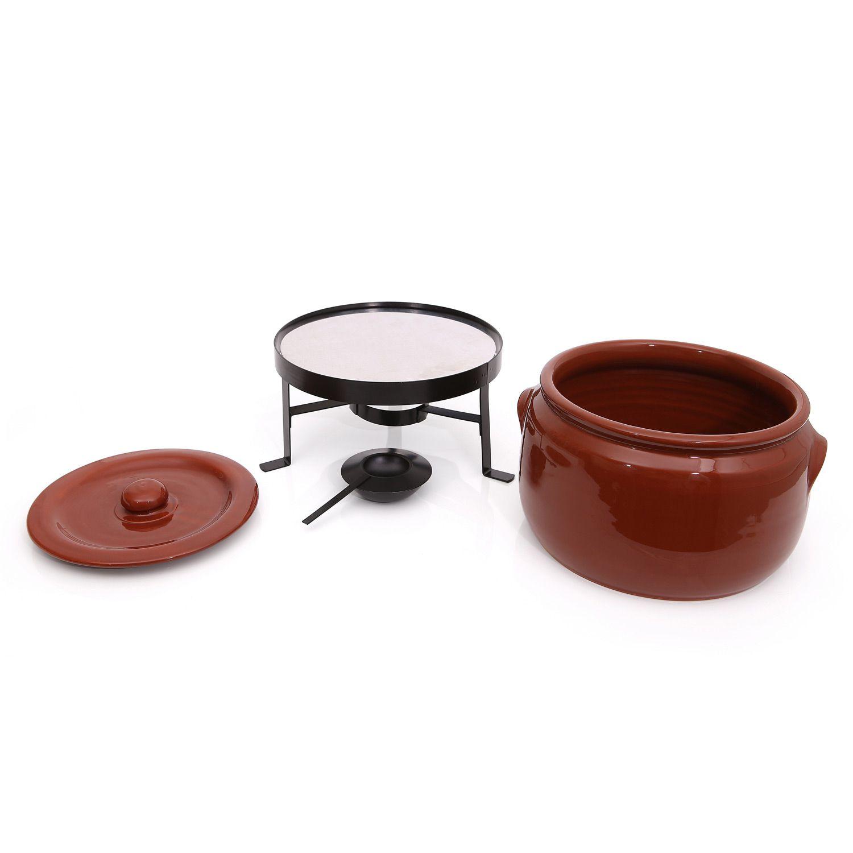 Kit Caçarola em cerâmica c/ tampa nº5 + Suporte 25cm