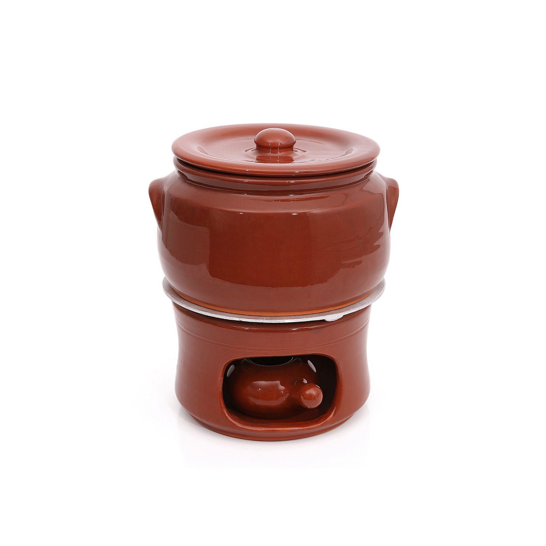 Kit completo Caçarola em cerâmica c/ tampa nº2 + Difusor + Fogareiro