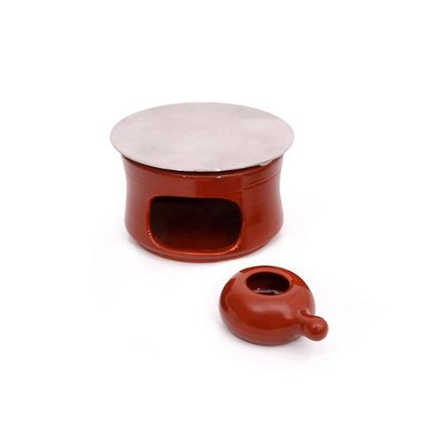 Kit fogareiro e chapa difusora n°0 - 8 x 12,5 cm