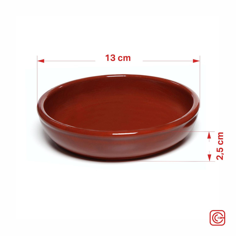 Prato em cerâmica redondo 13 cm