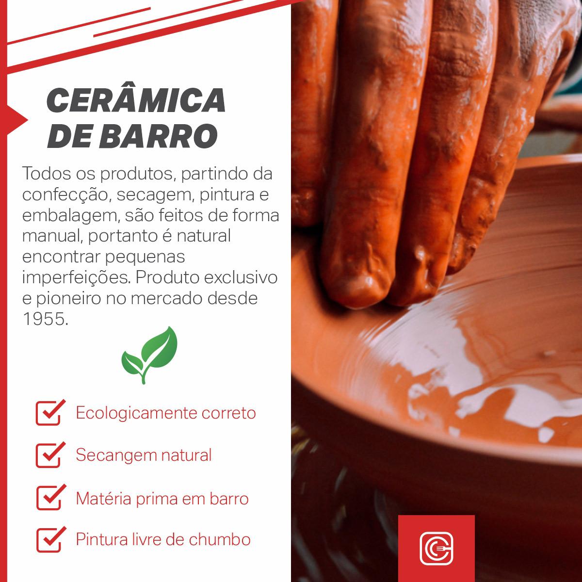 Prato em cerâmica vm redondo 30 cm - 1507