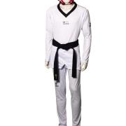 Dobok Strike Taekwondo Olympic Fighter Gola Preta