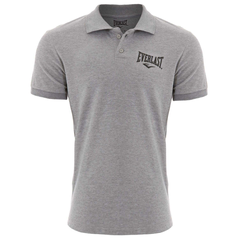 Camisa polo Everlast algodão cinza
