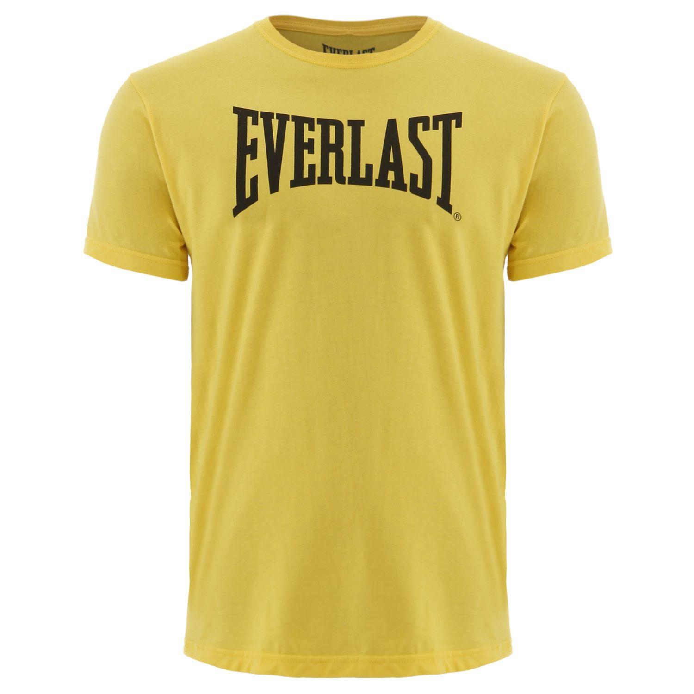 Camiseta Everlast algodão básica amarela