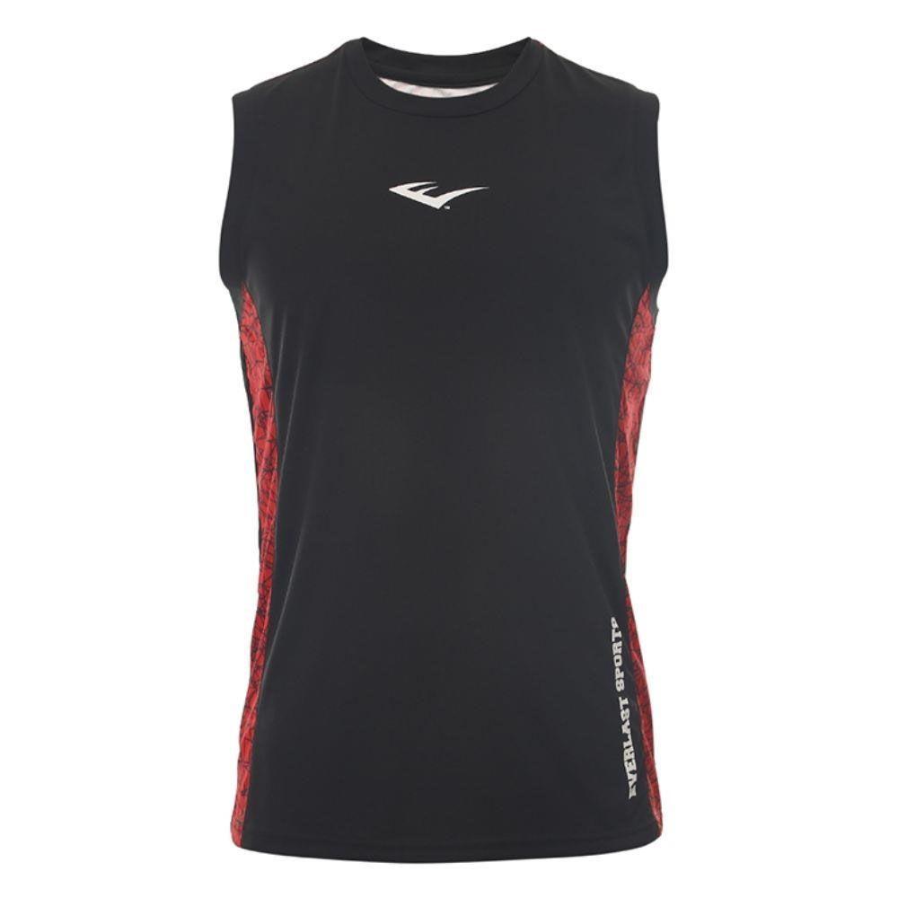 Camiseta Everlast machão dry preta com vermelho
