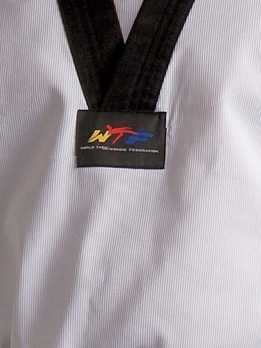 Dobok Adidas Taekwondo Adiclub 3S Gola Branca WT