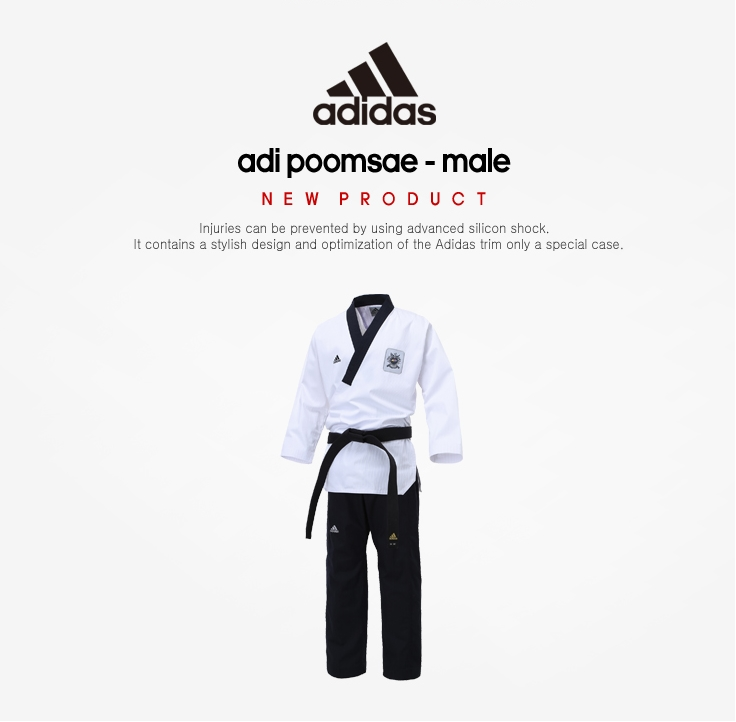 Dobok Adidas Taekwondo Poomsae Masculino Homologado WT