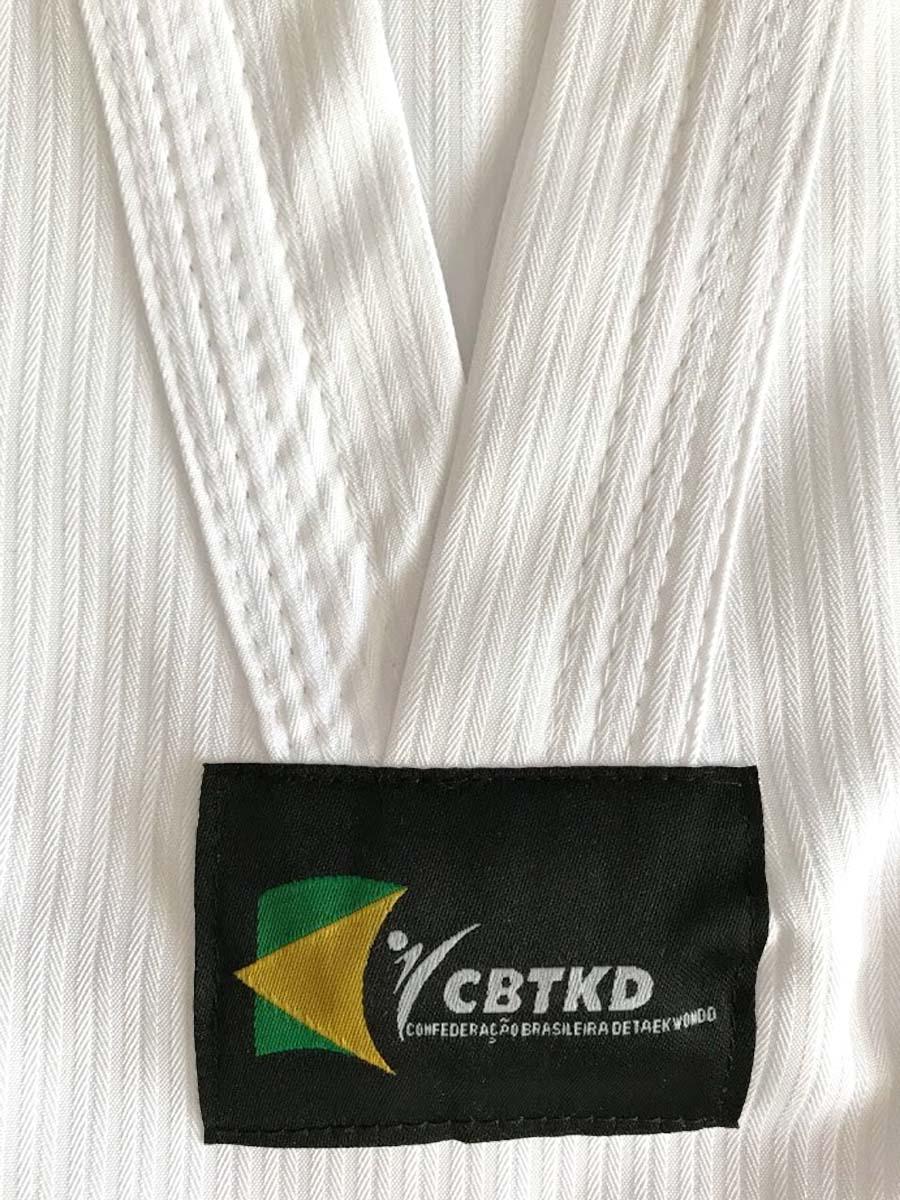 Dobok Strike Taekwondo Alpha Gola Branca Oficial CBTKD