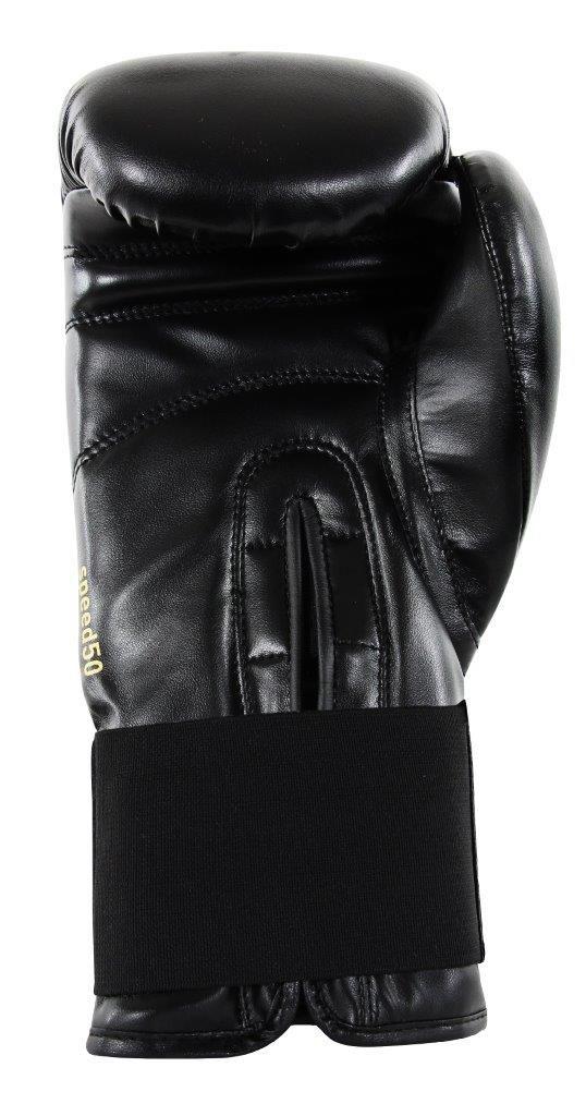 Luva de Boxe adidas Speed 50 Preto com Dourado Tam.14OZ