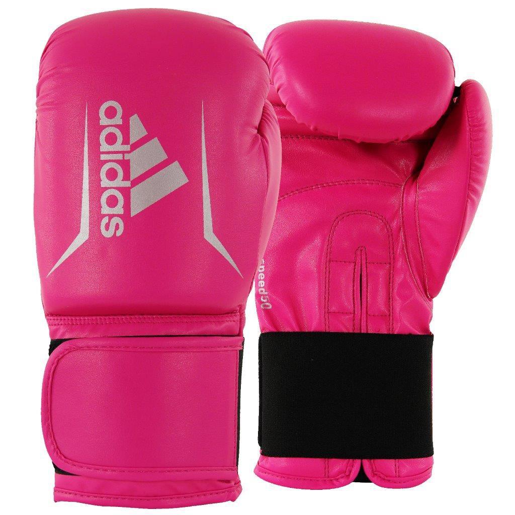 37d38a75a Luva de Boxe adidas Speed 50 Rosa Shock com Branco Tam.12OZ
