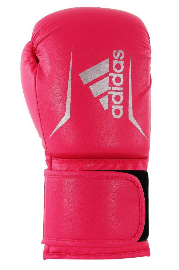 Luva de Boxe adidas Speed 50 Rosa Shock com Branco Tam.12OZ