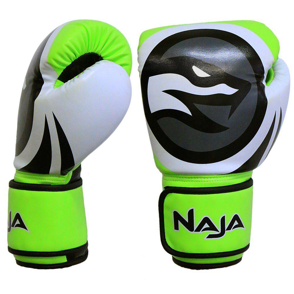 Luva De Boxe Naja Colors Fluor Verde 12