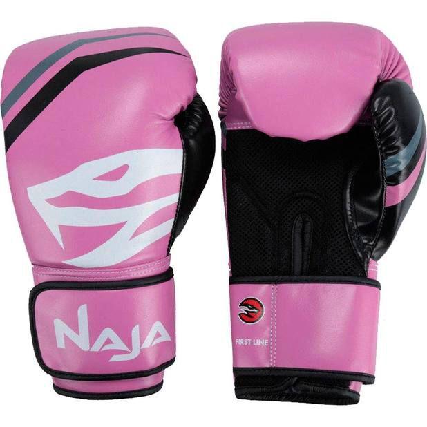 Luva De Boxe Naja  First Rosa Tamanho 12Oz