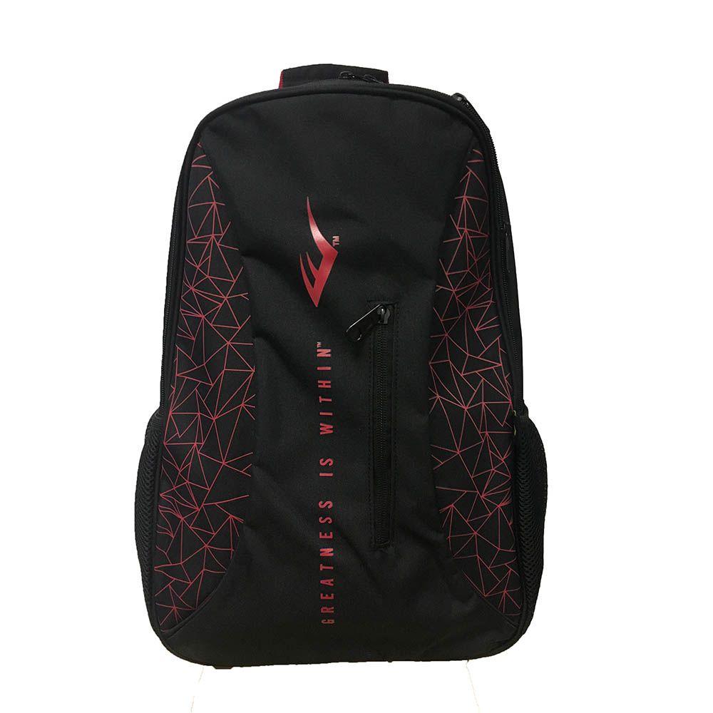 Mochila Everlast grafismo preta com detalhe vermelhos