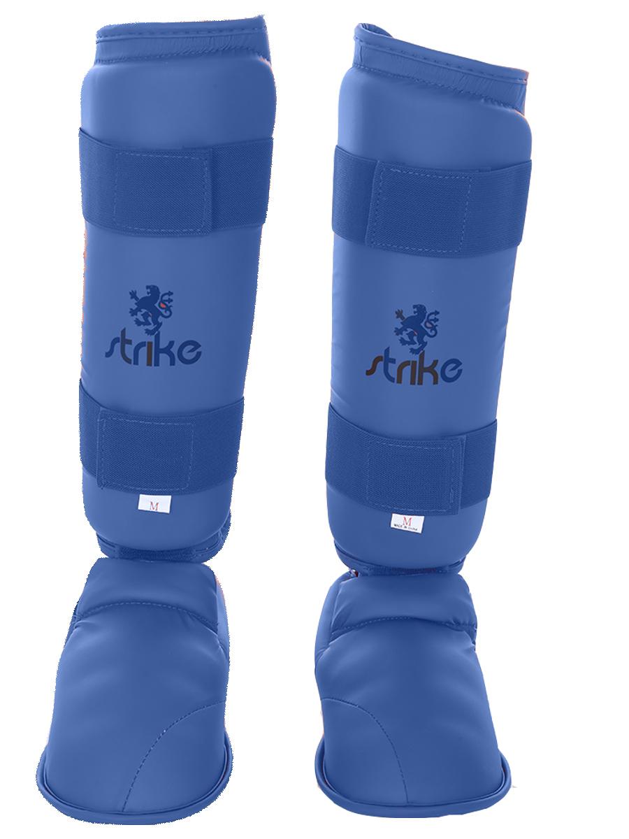 Protetor de canela e pé Strike Karate Azul
