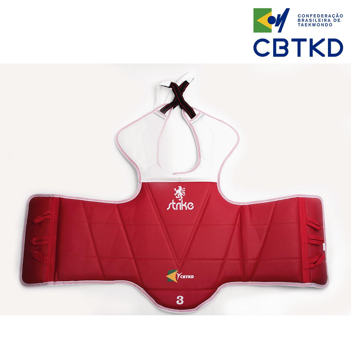 Protetor de torax reversível Strike Taekwondo Oficial CBTKD