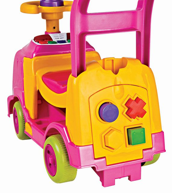 Andador Bichos com aro Rosa 1017 Magic Toys