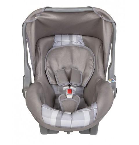 Bebê Conforto Nino Cinza e Xadrez Tutti Baby