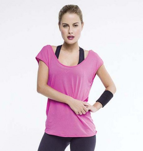 Blusa Rosa World Fitness